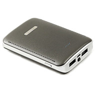 High Efficiency 7800mAh Smart Power Bank Battery Pack USB Charger with Samsung SDI Cell - Grey