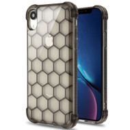 Honeycomb Tough Snap-on Crystal Case for iPhone XR - Smoke