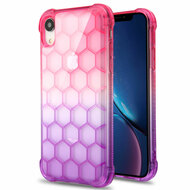 Honeycomb Tough Snap-on Crystal Case for iPhone XR - Hot Pink Purple