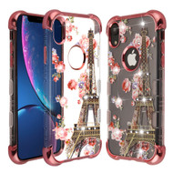 TUFF Klarity Lux Diamond Electroplating Transparent Anti-Shock TPU Case for iPhone XR - Paris in Full Bloom