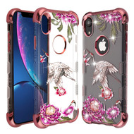 TUFF Klarity Lux Diamond Electroplating Transparent Anti-Shock TPU Case for iPhone XR - Crane