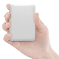 Mini Smart Power Bank Battery Pack 10000mAh with Dual USB Charger - White