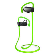 *SALE* Bluetooth V4.1 Wireless In-Ear Earhook Sport Headphones with Microphone - Green