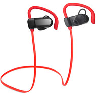 *SALE* Bluetooth V4.1 Wireless In-Ear Earhook Sport Headphones with Microphone - Red