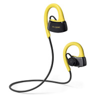 *SALE* IPX7 Certified Bluetooth V4.1 Wireless Secure Fit In-Ear Earhook Sport Headphones with Microphone - Yellow