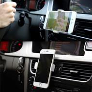 *SALE* Aluminum Slim Grip Smartphone Car Air Vent Mount Clamp - Silver