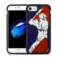 Vista Ultra Hybrid Shock Absorbent Fusion Case for iPhone 8 / 7 - Batter Up