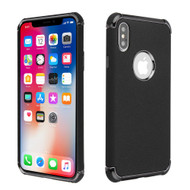 Klarion Frosted Color Tough Case for iPhone XS / X - Black