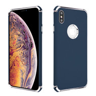 Klarion Frosted Color Tough Case for iPhone XS Max - Navy Blue