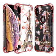 TUFF Klarity Lux Diamond Electroplating Transparent Anti-Shock TPU Case for iPhone XS Max - Paris in Full Bloom
