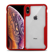 Vista Ultra Hybrid Shock Absorbent Crystal Case for iPhone XS Max - Red