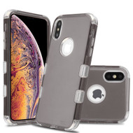 Military Grade Certified TUFF Lucid Transparent Hybrid Armor Case for iPhone XS Max - Smoke