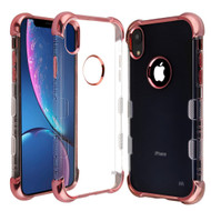 TUFF Klarity Lux Electroplating Transparent Anti-Shock TPU Case for iPhone XR - Rose Gold