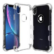 TUFF Klarity Lux Electroplating Transparent Anti-Shock TPU Case for iPhone XR - Silver