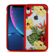 Vista Ultra Hybrid Shock Absorbent Crystal Case for iPhone XR - Hibiscus