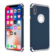 Klarion Frosted Color Tough Case for iPhone XS / X - Navy Blue