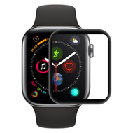 3D Curved Full Coverage HD Tempered Glass Screen Protector for Apple Watch 40mm Series 4 - Black