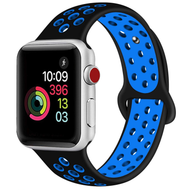 Soft Breathable Sport Band Strap for Apple Watch 44mm / 42mm - Black Blue