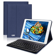 *SALE* Slim Leather Folio Kickstand Case with Removable Bluetooth Wireless Keyboard for iPad Pro 10.5 inch - Navy Blue