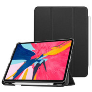*Sale* Smart Leather Hybrid Case with Apple Pencil Holder for iPad Pro 11 inch - Black
