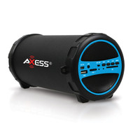 2.1 Channel High Fidelity Portable Bluetooth Media Wireless Cylinder Speaker - Blue