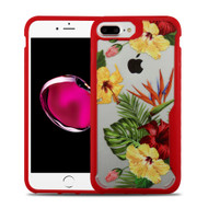 Vista Ultra Hybrid Shock Absorbent Crystal Case for iPhone 8 Plus / 7 Plus - Hibiscus