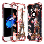 TUFF Klarity Lux Diamond Electroplating Transparent Anti-Shock TPU Case for iPhone 8 / 7 / 6S / 6 - Paris in Full Bloom