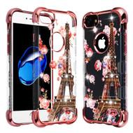TUFF Klarity Lux Diamond Electroplating Transparent Anti-Shock TPU Case for iPhone 8 / 7 / 6S / 6 - Paris in Full Bloom