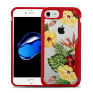 Vista Ultra Hybrid Shock Absorbent Crystal Case for iPhone 8 / 7 - Hibiscus