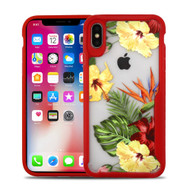 Vista Ultra Hybrid Shock Absorbent Crystal Case for iPhone XS / X - Hibiscus