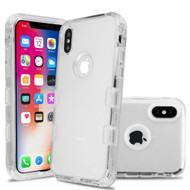 Military Grade Certified TUFF Lucid Transparent Hybrid Armor Case for iPhone XS / X - Clear