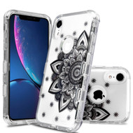 Military Grade Certified TUFF Lucid Transparent Hybrid Armor Case for iPhone XR - Classic Mandala