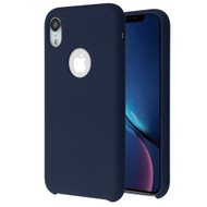 Premium Silicone Coated Protective Case for iPhone XR - Midnight Blue