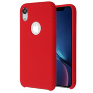 Premium Silicone Coated Protective Case for iPhone XR - Red