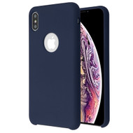 Premium Silicone Coated Protective Case for iPhone XS Max - Midnight Blue