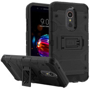 Military Grade Certified Storm Tank Hybrid Armor Case with Stand for LG K30 / Harmony 2 / Premier Pro - Black