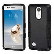Military Grade Certified TUFF Hybrid Armor Case for LG Aristo / Fortune / K8 2017 / Phoenix 3 - Black