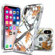Military Grade Certified TUFF Lucid Transparent Hybrid Armor Case for iPhone XS / X - Oak