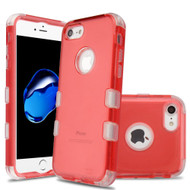 Military Grade Certified TUFF Lucid Transparent Hybrid Armor Case for iPhone 8 / 7 - Red