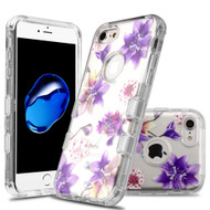 Military Grade Certified TUFF Lucid Transparent Hybrid Armor Case for iPhone 8 / 7 - Purple Stargazers