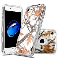 Military Grade Certified TUFF Lucid Transparent Hybrid Armor Case for iPhone 8 / 7 - Oak
