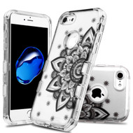 Military Grade Certified TUFF Lucid Transparent Hybrid Armor Case for iPhone 8 / 7 - Classic Mandala
