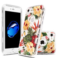 Military Grade Certified TUFF Lucid Transparent Hybrid Armor Case for iPhone 8 / 7 - Hibiscus