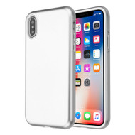 Fuse Slim Armor Hybrid Case for iPhone XS / X - Silver