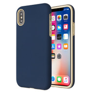 Fuse Slim Armor Hybrid Case for iPhone XS / X - Navy Blue