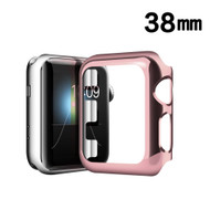 Snap-on Electroplated Protective Bumper Case for Apple Watch 38mm - Rose Gold