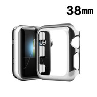 Snap-on Electroplated Protective Bumper Case for Apple Watch 38mm - Silver