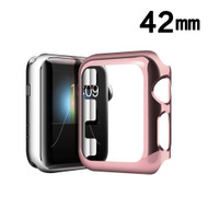 Snap-on Electroplated Protective Bumper Case for Apple Watch 42mm - Rose Gold