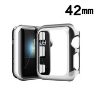 Snap-on Electroplated Protective Bumper Case for Apple Watch 42mm - Silver