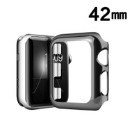 Snap-on Electroplated Protective Bumper Case for Apple Watch 42mm - Black